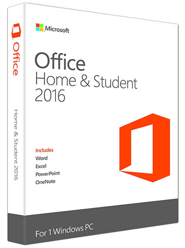 Office 2016 home & student for  windows 7,8 and 10