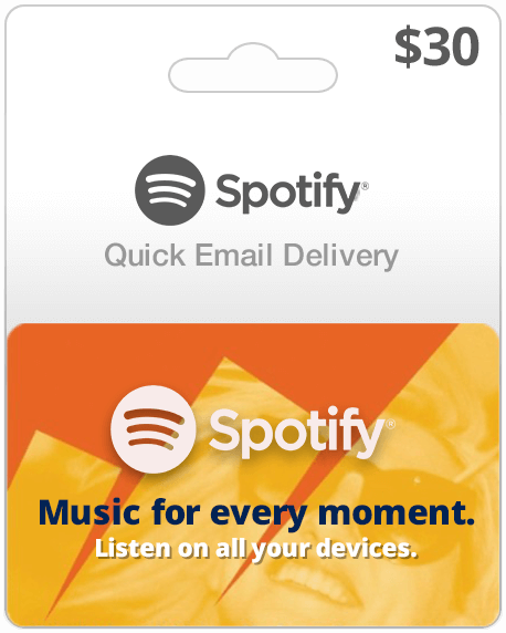 Spotify Music Gift Card $30