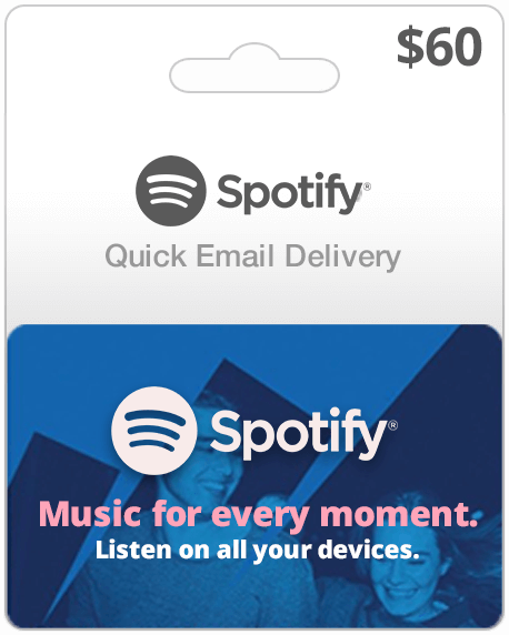 Spotify Music Gift Card $60
